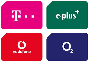 Telekom D1, Vodafone D2, o2, E-Plus